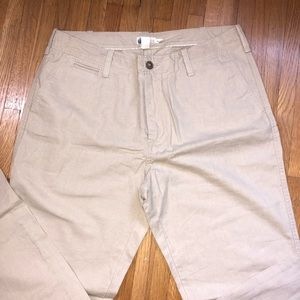 J.crew Men's Tan Linen Pants Size 34x32